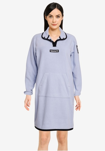 Timberland blue Yc Oa Polar Fleece Half Snaps Dress F5667AA0B2CB07GS_1