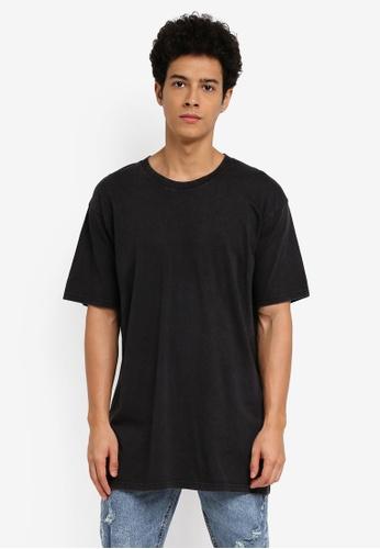 Cotton On 黑色 素色短袖長版T恤 6D7C2AAE820C82GS_1