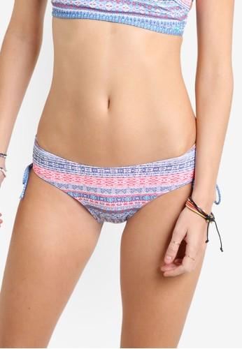 Denzalora時尚購物網評價im Daze 印花側繫帶比基尼泳褲, 服飾, 泳褲及沙灘造型