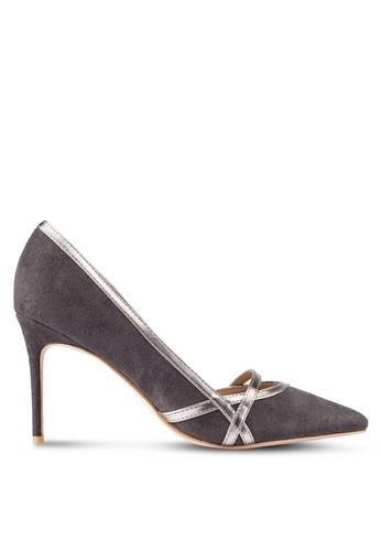 ZALORA grey Court Heels With Trim Details D10A1ZZ457915DGS_1