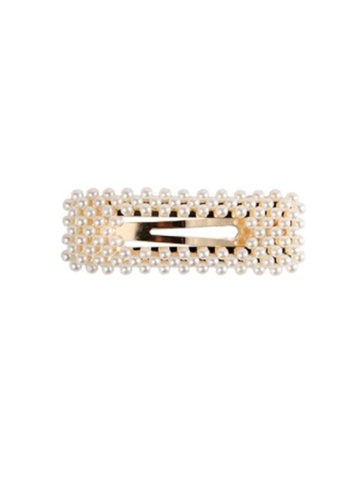 Kings Collection white Faux Pearl Hair Clip (UPHA20083) 029C9ACCE4B6F4GS_1
