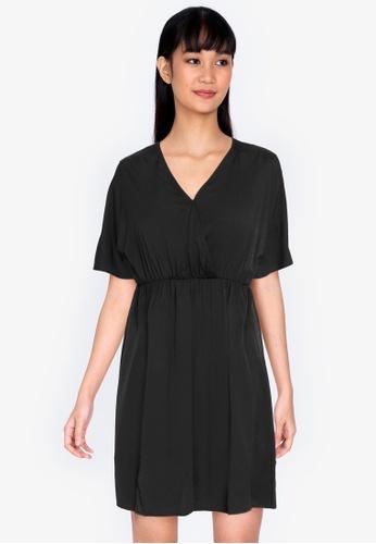 ZALORA BASICS black Raglan Sleeve Mini Dress 8F424AAC3F204CGS_1