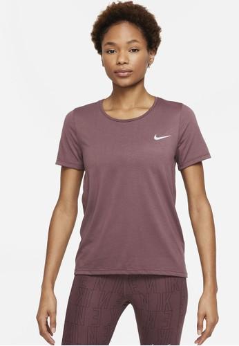 Nike red Women's Dri-FIT Run Division Tee 8506DAAF038E7FGS_1