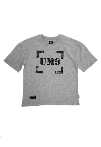 L.I.M.I.T.E grey Oversize Printed TEE F6411AA06640A2GS_1