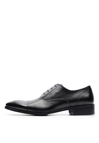 [尊爵皮底]紳士。打蠟全牛皮防滑皮鞋-04717-黑esprit 衣服色, 鞋, 皮鞋