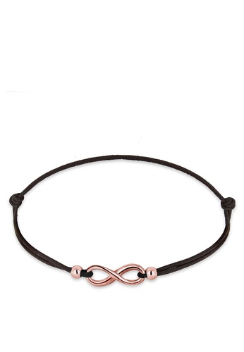 ELLI GERMANY gold Rose Gold Plated Infinity Bracelet EL474AC0RFHBMY_1