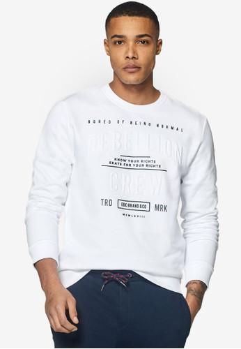 ESPRIT white 3D Lettering Print Sweatshirt 68F42AA000C342GS_1