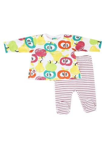 Babybol pink Baby's Graphic Printed 2 Pieces Set 8D279KA3015936GS_1