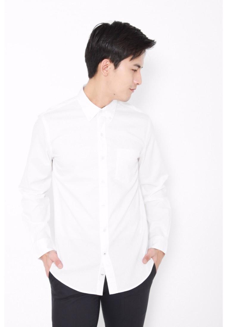 Sleeve Shirt White White Long Paper Dockers Dobby Paper Textured Dockers qtORTI4wa