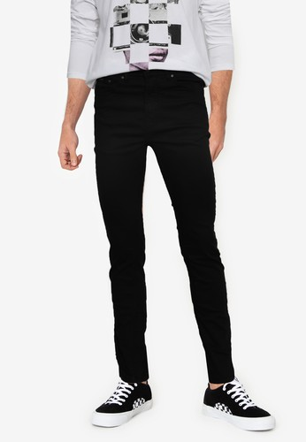 Springfield black Skinny Fit Washed Coloured Trousers 0D6E6AAE064541GS_1