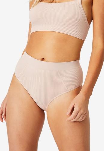 Cotton On Body brown and beige Seamfree Mumdie Bikini Cut Briefs 0A80BUS8ECF0D1GS_1