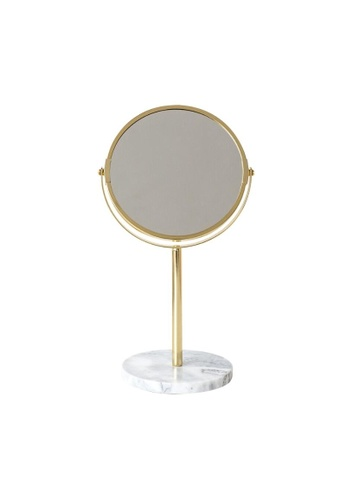 DILAS HOME gold Gold Marble 2-sided Vanity Mirror Stand (Gold) F7E47HL87EC61EGS_1
