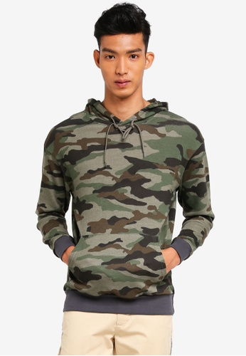 c7ef125c117c Buy UniqTee Camo Print Hoodie Online on ZALORA Singapore
