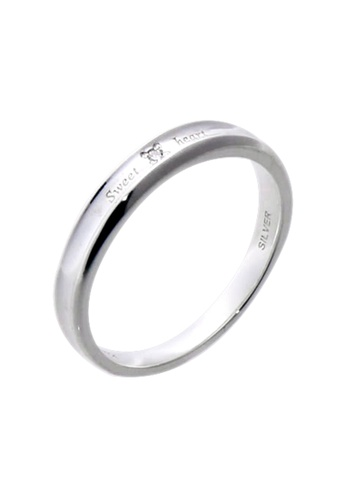 The LoveMark silver Sweetheart Ring with Artificial Diamond for Men lr0019m TH516AC74VARPH_1
