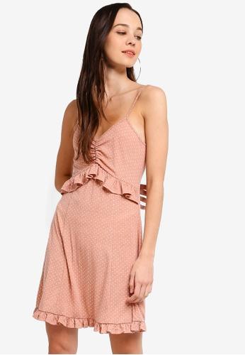 Something Borrowed 粉紅色 Frill Cami Knit Dress A0055AAE29B45BGS_1