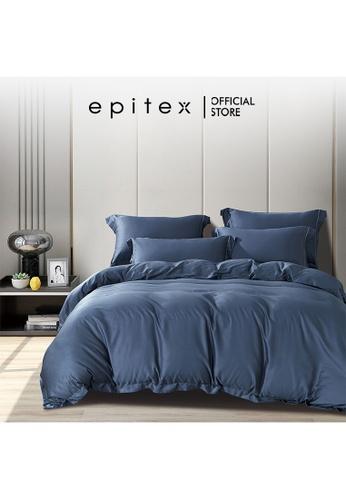 Epitex blue Epitex HOMME 1600TC Tencel Bedsheet - Fitted Sheet Set - Bedding Set - EHS2212 (Dark Night) FB1CEHLC54D3C0GS_1