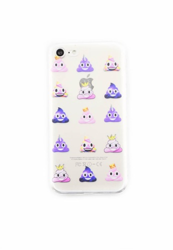 Fancy Cellphone Cases multi Poop Emoticon Soft Transparent Case for iPhone 7 FA644AC0J0HIPH_1