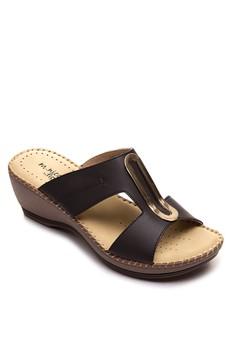 Slip On Wedge Sandals