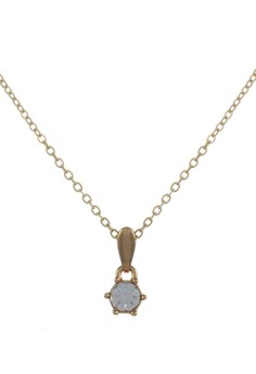Trends Classic Gold Plated Stud Necklace N12 G