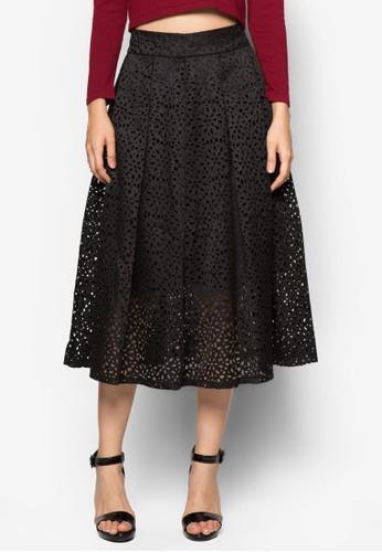 Premiumzalora開箱 褶飾傘狀過膝裙, 服飾, 及膝裙