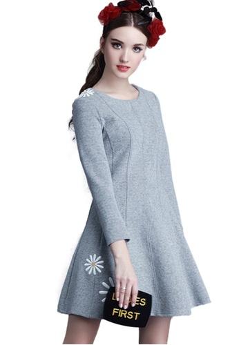 Sunnydaysweety grey Grey Floral A-Line One Piece Dress K2004153GY D0813AA64E92E7GS_1