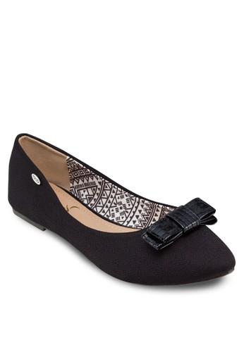 蝴蝶結尖頭平底鞋, 女鞋, 芭esprit專櫃蕾平底鞋