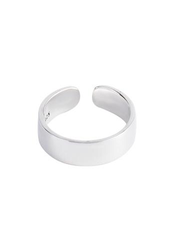 OrBeing 白色 Premium S925 Sliver Star Ring 44801ACA642559GS_1