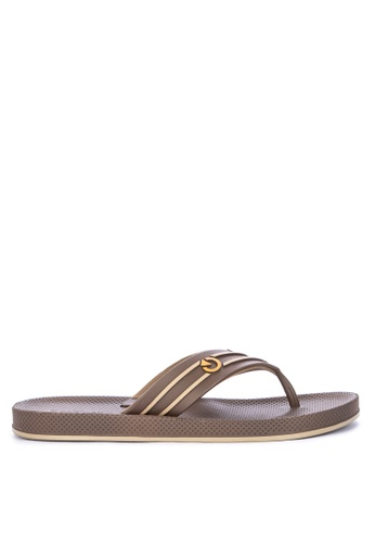 Cartago brown Siena Thong Ad Flip Flops 8012FSH8B12665GS_1
