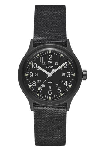 Timex black Timex Archive Camper MK1 36mm - Black Case & Nylon Strap (TW2R13800) TI857AC0GQKLSG_1