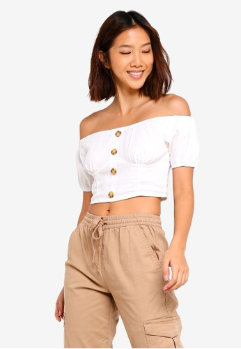 9c8d7d6fe3c32 Buy Cotton On Marlo Off The Shoulder Top Online on ZALORA Singapore