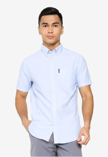 Ben Sherman blue Signature Gots Organic Oxford Shirt 6EC1CAA6F4B7E2GS_1