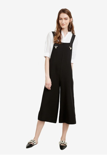 Hopeshow black Loose Fit Culotte Jumpsuit 05C0FAA9024506GS_1