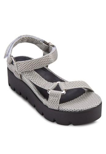 網眼繞踝楔形涼鞋, 女鞋esprit 香港 outlet, 楔形涼鞋