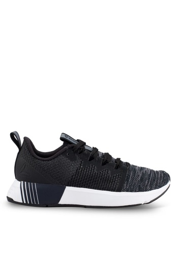 Reebok 黑色 and 灰色 編織慢跑鞋 DD7D1SHD12F6C1GS_1