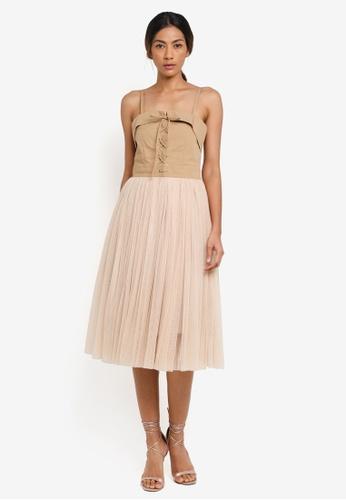 Haute Kelly brown Go-Eun Dress 8F81DAA562BAA6GS_1