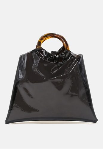 London Rag black Premium tote bag with round handles E8FC7AC532B2F2GS_1