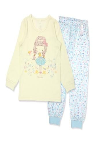 Organic mom yellow Organic Cotton Helen Girl Lightweight Long Sleeves Pjs 2ACEDKAA7315D9GS_1