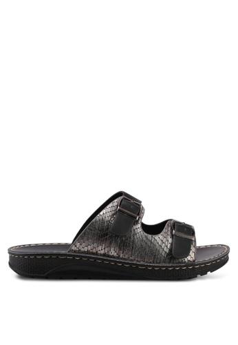 Noveni black Slide On Sandals 04401SHE5A6A76GS_1