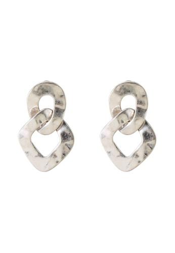 niko and ... grey Interlink Hoop Earrings EA95AAC24AA504GS_1