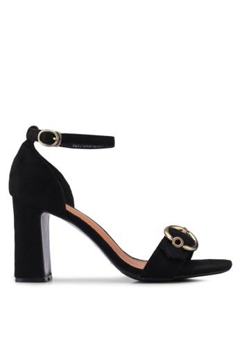 Something Borrowed black Eyelet Ankle Strap heels CA529SH3A0FC1EGS_1