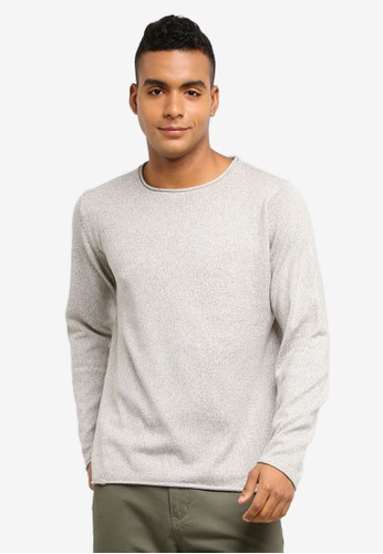 Indicode Jeans grey Ashley Knitted Longline Back Panel Sweater C97B1AA49A5968GS_1