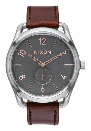 Nixon grey and brown Nixon - C45 Leather Grey/Brown Watch NI855AC88EAHSG_1
