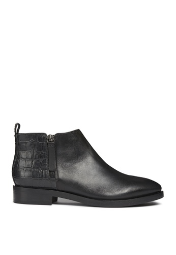 Geox black Donna Brogue Ankle Boots 100EFSHFF225F1GS_1