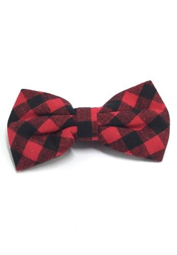 Splice Cufflinks Probe Series Red and Black Checked Design Cotton Pre-tied Bow Tie SP744AC09QPISG_1