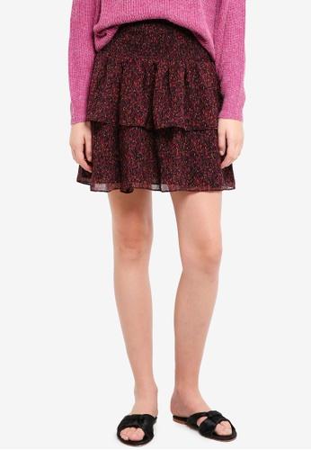 ICHI black Almia Skirt A1445AA041B39DGS_1