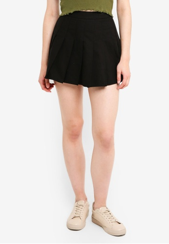 Factorie black Pleated Skirt 657D5AA8EA0D2BGS_1