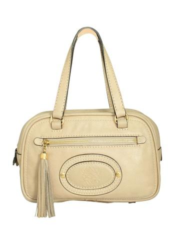 LOEWE beige Pre-Loved loewe Loewe Dual Handle Bowler Bag with Tassel 7D4CBAC90A8604GS_1