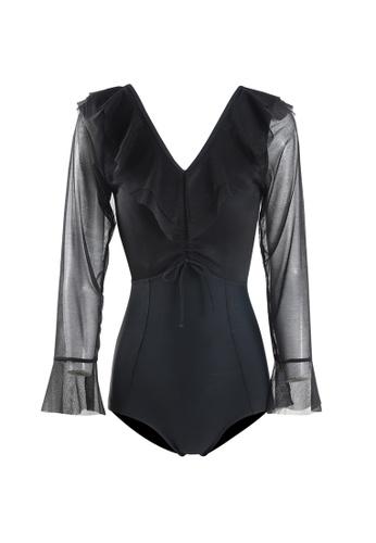 Its Me black Sexy Gauze Big Backless One-Piece Swimsuit 64772US00F9472GS_1