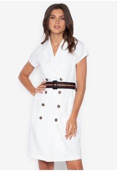 5b99e496 Plains & Prints white 2010 Short Sleeves Dress C52CFAACAECD31GS_1