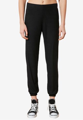 Trendyol black Knitted Corded Joggers 0E807AAE57E1B2GS_1